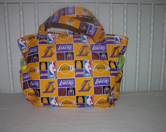 New Diaper Bag m/w LA Lakers Fabric