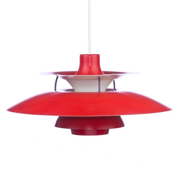 louis poulsen ph5 red vintage lamp poul by retrorevolution1. Black Bedroom Furniture Sets. Home Design Ideas