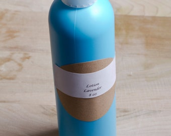 Homemade all natural lotion with essential oils 8 oz