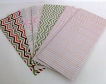 8 Decorative Handmade Envelopes with Chevron Patterns and Stripes