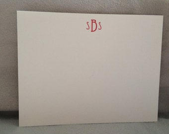Custom Monogram Stationery Set of 100