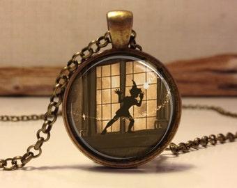 Peter Pan  Jewelry, Peter Pan Necklace Peter Pan art pendant jewelry. (peter pan #12)