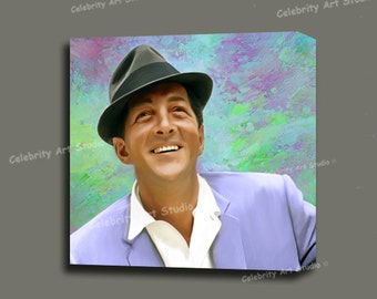 """Dean Martin Canvas Giclee, Acrylic Art W Gallery Wrap Ready To Hang Up To Size 36X36X1.5"""""""