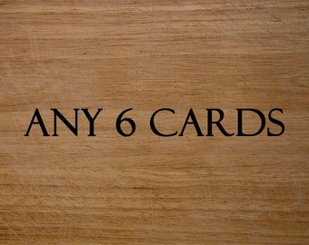 Greeting Cards, Gift cards - Mix and Match, Any 6 cards