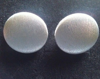 Large silver material earrings