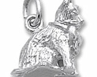 Sterling Silver Cat Charm by Rembrandt