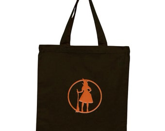 Personalized Witch Tote - 100% cotton - Holiday Tote Bag, Trick or Treat, Costume Tote, Trick or Treat Bag