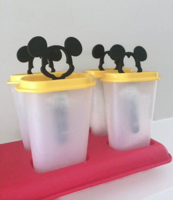 vintage mickey mouse tupperware popcicle containers on etsy