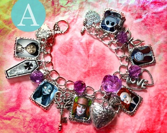 Tim Burton the Nightmare before Christmas corpse bride  Alice in the wonderland   bracelet necklace