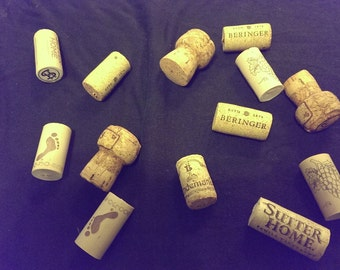 bag of 10 wine/champagne corks perfect for crafts or filler