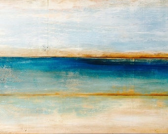 Reclaimed wood wall art,teal abstract,nautical art,blue abstract,seascape art,original artwork, barn wood art, reclaimed art