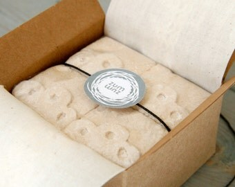 50 Favors - Cold-Brewed Coffee Marshmallows with Personalized Message - 4 Pieces per Favor Box
