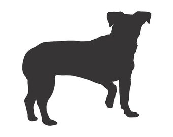 Chiweenie Dog Silhouette Custom Die Cut Vinyl Decal Sticker - Choose your Color and Size