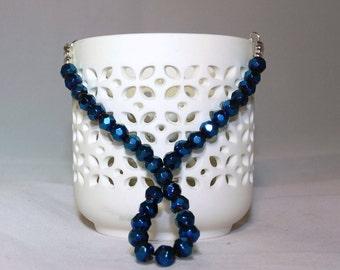 Shimmering Handmade Blue Necklace Set