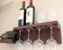 unique wall mount wine rack related items etsy. Black Bedroom Furniture Sets. Home Design Ideas