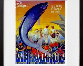 Travel Poster Mexico Advertising Art Print (TR13)