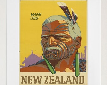 Travel Art New Zealand Print Poster Vintage Home Decor (XR89)