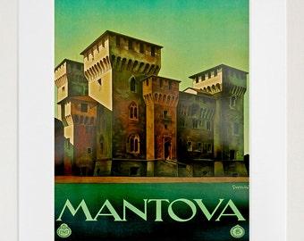 Art Italy Travel Poster Italian Mantova Vintage Print (ZT173)