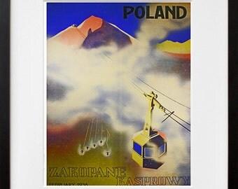 Poland Art Print Travel Polish Home Decor Poster (XR116)