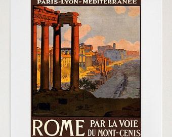 Roman Art Print Rome Travel Poster Home Decor (ZT343)