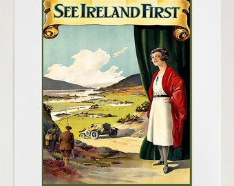 Ireland Travel Poster Irish Decor Wall Art Print (ZT265)