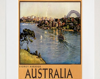 Sydney Australia Art Travel Poster Vintage Sign Retro Print (ZT100)