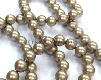 Platinum (001 459) Swarovski Elements 5810 Round Crystal Pearls Beads ( 3mm , 4mm , 5mm , 6mm , 8mm , 10mm , 12mm ) ** FREE Shipping
