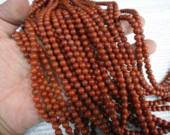 6mm red jasper round beads, natural red jasper beads. 15.5 inch