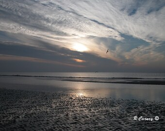 Low Tide, Hilton Head Island, South Carolina, Beach Landscape,Fine Art Photography