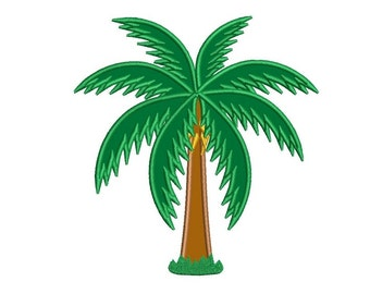 Palm Tree Applique Machine Embroidery Digitized Design Pattern  - Instant Download - 4x4 , 5x7, and 6x10 -hoops