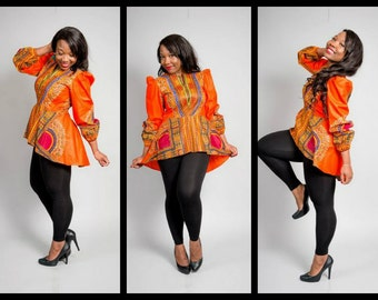 dashiki blouse with peplum.