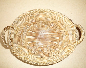 Little French Basket in traditional pottery Hand made / Cottage / earthenware / terra cota / céramic