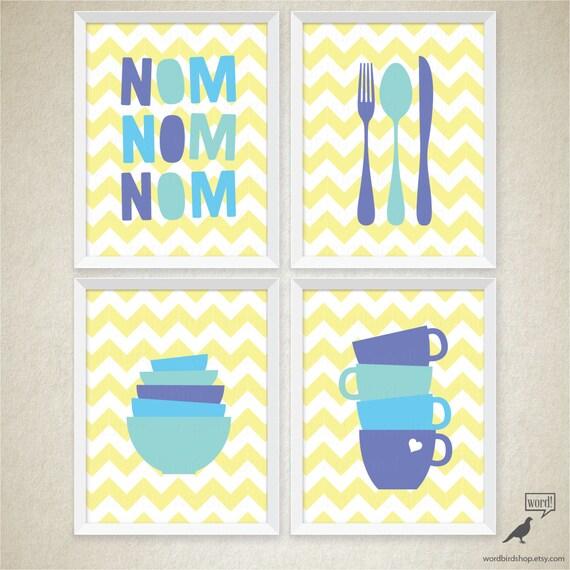 Items Similar To Kitchen Wall Decor Kitchen Poster Set