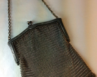 SALE !  Whiting And Davis Mesh Purse Vintage 1920's