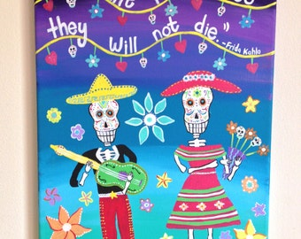 Day of the Dead Canvas