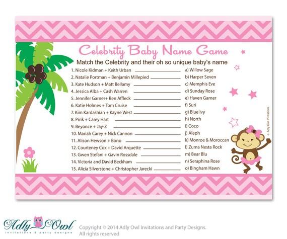 Celebrity Baby Name Generator | Rum and Monkey