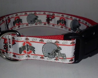 Adjustable College Dog Collar  --Medium dog size