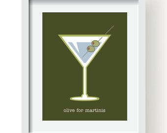 "Olive for Martinis  - 11x14"" Print"