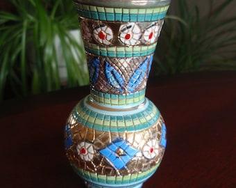 Lovely Colorful Decorative Porcelain Enamel Small Vase Green Enamel Interior Collectible Home décor L1641
