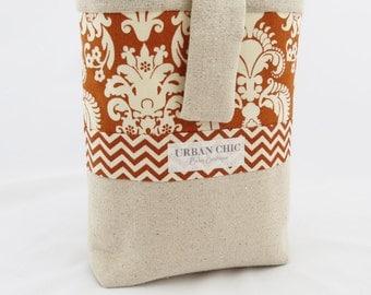 Diaper Pouch - Orange & Ivory