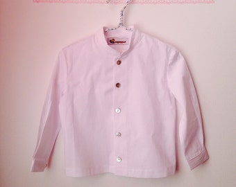 SALE 20% OFF! Use the code:BELLA20!White cotton shirt.... blouse child ...