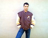 Vintage THROWBACKS Outdoor Jacket NFL Cleverland Browns Football jacket by Mirage Size XL