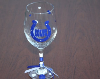 Indianapolis Colts Wine Glass