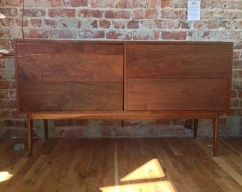Mid Century Sideboard, Credenza, Handmade Walnut Buffet.