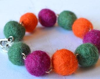 Lovely Felted Bracelet