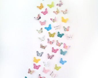 3d Butterfly Wall Art -Spring Butterflies - Wall Art - Nursery Art - Nursery Decor- Paper Butterflies - Butterflies Wall Art - 3d art
