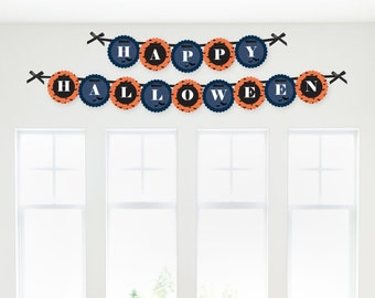 Bewitching Bash Halloween Garland Banner - Custom Party Decorations