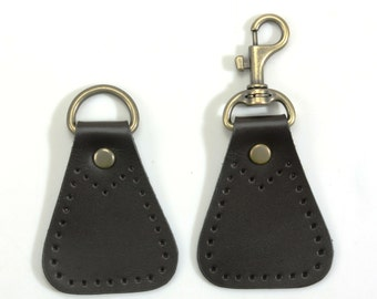 Swivel Hook Ring on 100% Genuine Leather Strap for Purse Making Supply