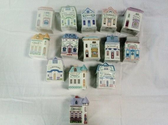 Lenox spice village in miniatura case vittoriane set da for Case gotiche vittoriane in vendita