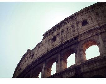 Colosseum travel photograph, fine art photo print, travel, landmark, colosseum, rome, italy